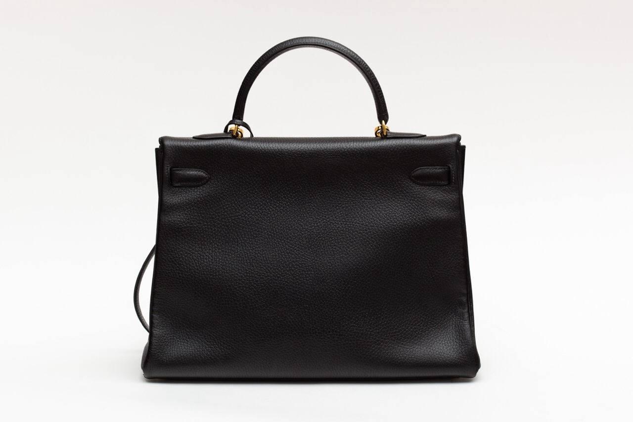 Hermes Kelly Black Ardenne 35 cm bag 3