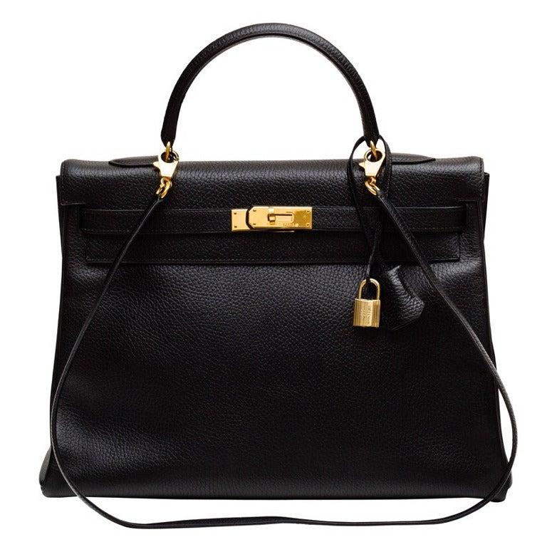 Hermes Kelly Black Ardenne 35 cm bag 1