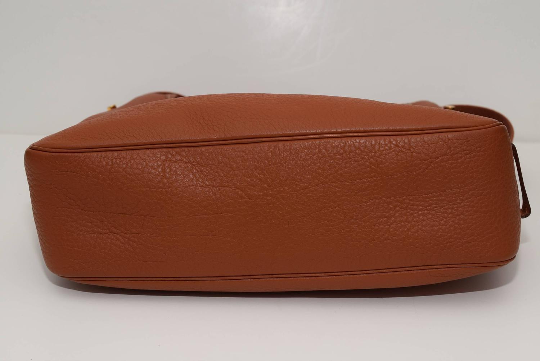 Hermes Vintage Clemence Taurillion Leather Cross Body Bag at 1stdibs