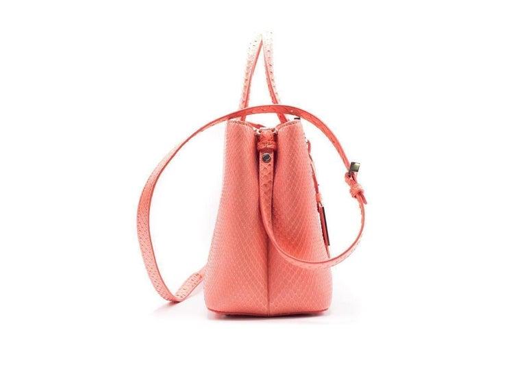 Fendi Petite 2Jours Python Top Handle Shopper Bag Pink 2