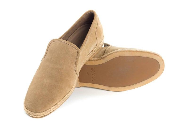 Brunello Cucinelli Men's Tan Slip-on Flat Espadrilles For ...