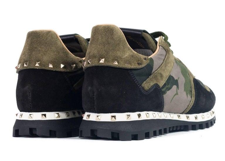 c22c6f46fc Valentino Garavani Mens Green Camo Rockstud Sneakers For Sale at 1stdibs