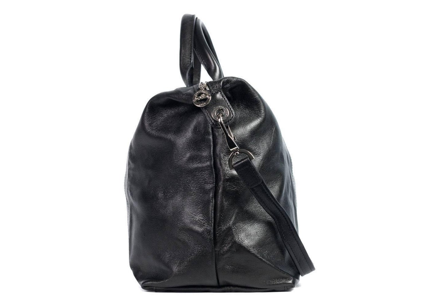 40744c87d595 Longchamp Black Leather Le Pliage Cuir Large Top Handle Bag For Sale at  1stdibs