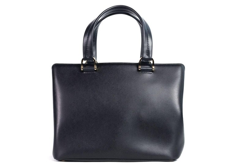 Longchamp Women S Black Leather Honore 404 Small Tote Bag For 1