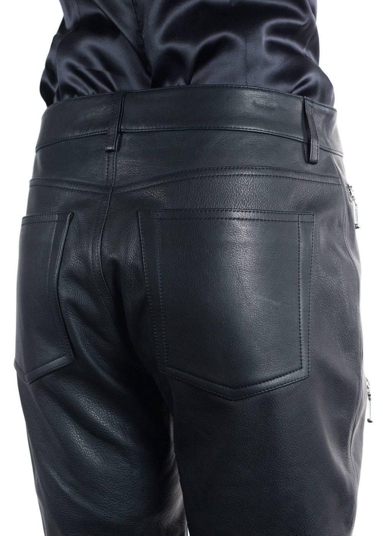 Brand New Alexander Wang Cropped Leather Biker Trousers Original Tags  Retails in Stores & Online for $1995 Size EUR 40 / US 4  These Alexander Wang Cropped trousers are perfect for that night out. These pants were designed in Italy using 100%