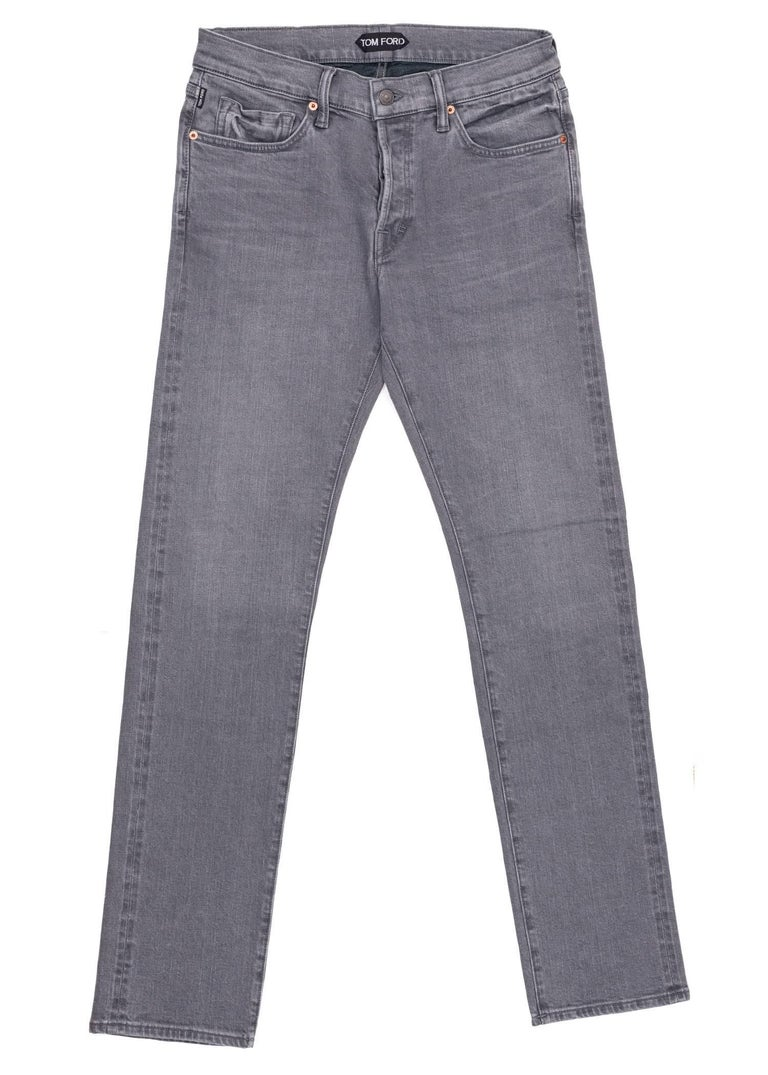Take a stroll in your medium wash Tom Ford Selvedge Jeans. This durable pair was designed using firm aerated cotton, a straight fit, and a four button front fly design. Pair these jeans with a relaxed top for the perfect all casual look.  New