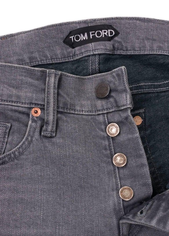 Gray Tom Ford Selvedge Denim Jeans Light Grey Wash Size 31 Regular Fit Model For Sale