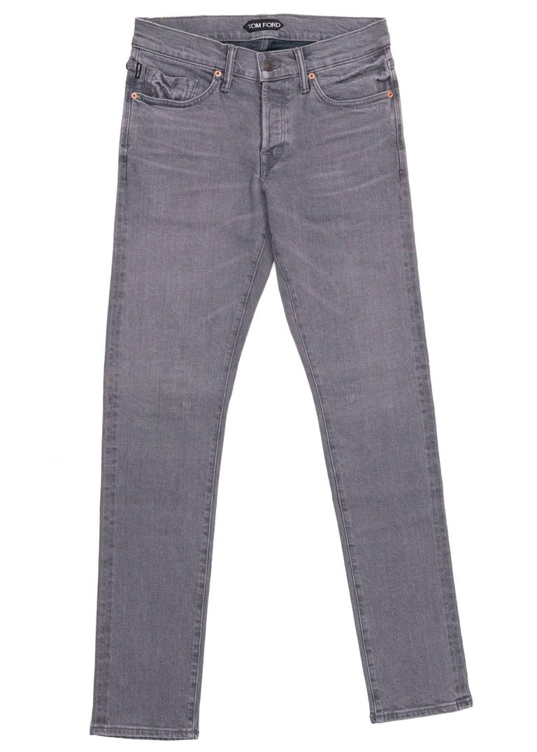 Step things up a notch in your long lasting Tom Ford Selvedge Jeans. This durable pair was designed using firm aerated cotton, a regular fit, and a four button front fly design. Pair these jeans with a relaxed top for the perfect all casual