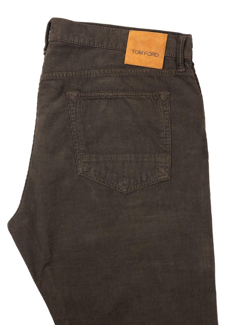 Tom Ford Denim Jeans Brown Wash Size 38 Regular Fit Model In New Condition For Sale In Brooklyn, NY