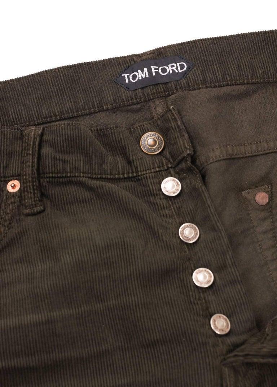Black Tom Ford Denim Jeans Brown Wash Size 38 Regular Fit Model For Sale