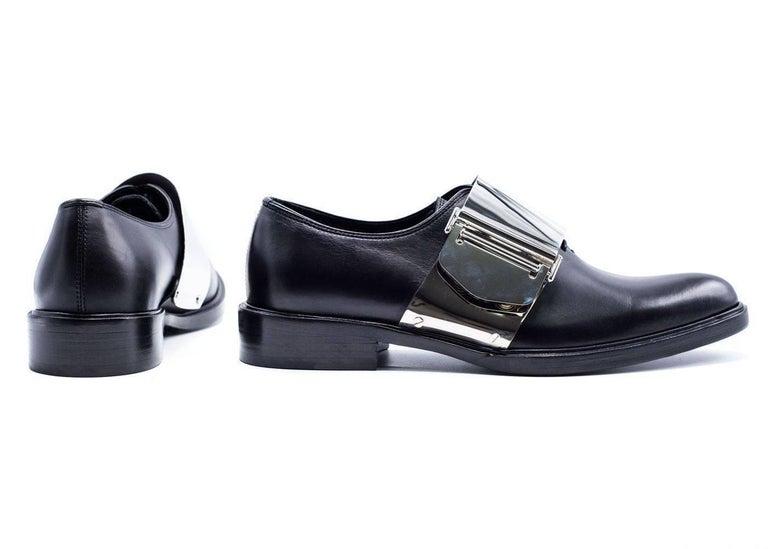 Givenchy Men's Black Leather Richelieu Oxfords For Sale 1