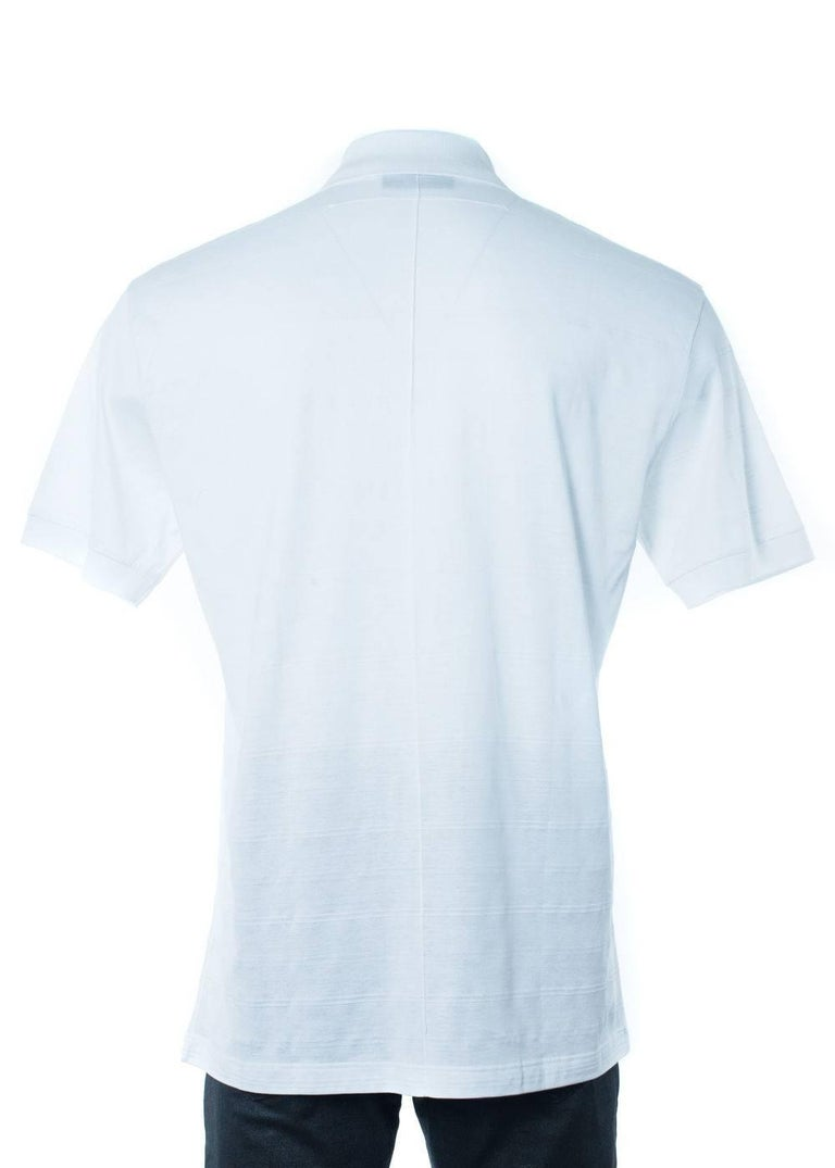 Givenchy Mens White 100 Cotton Pattern Polo Shirt For Sale At 1stdibs