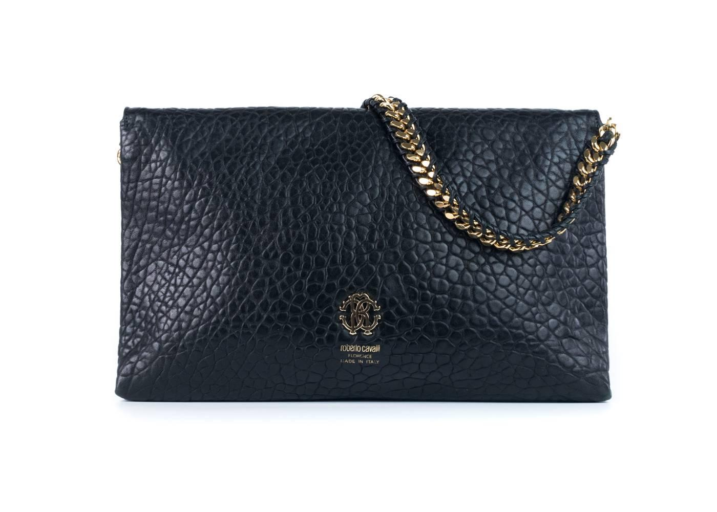 1stdibs Roberto Cavalli Black Calf Hair Studded Leather Tassel Clutch 2nuEss8Qi