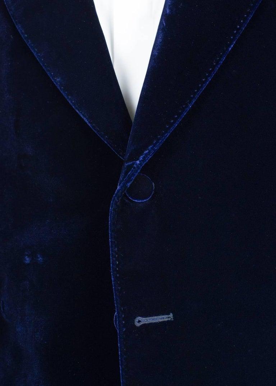 Black Tom Ford Navy Shelton Slim Fit Velvet Tuxedo Jacket For Sale