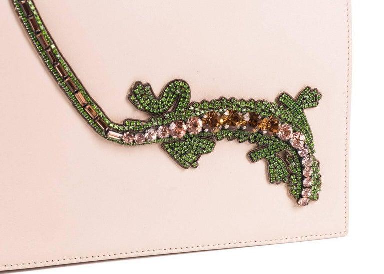 Women's Roberto Cavalli Beige Leather Embellished Front Flap Shoulder Bag For Sale