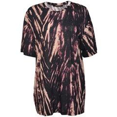 Roberto Cavalli Womens Black Tie Dye Tunic T Shirt
