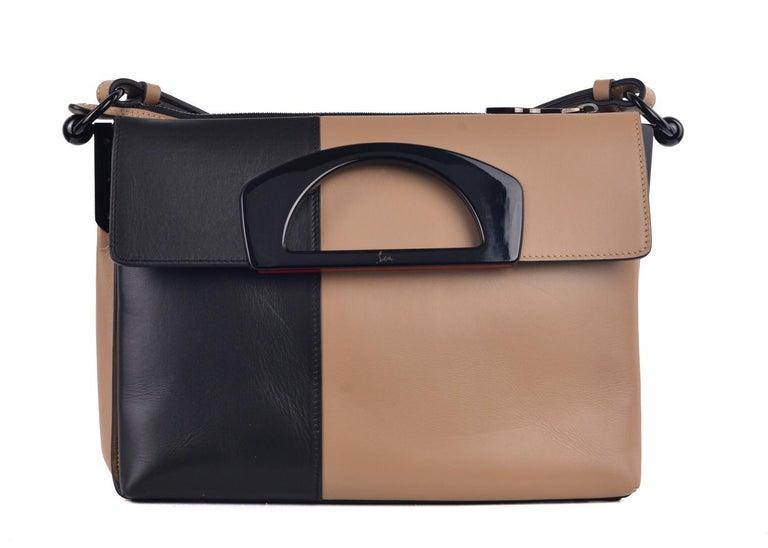 Brown Louboutin Leather Colorblock Handbag For