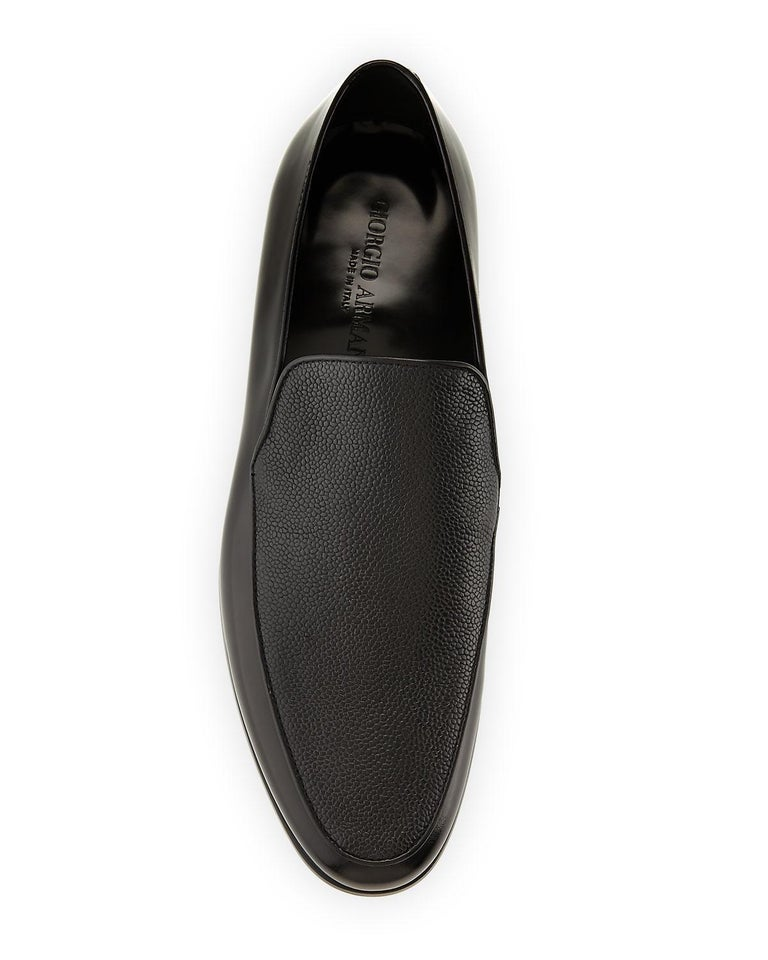 b601d0805a8 Giorgio Armani Mens Black Saffiano Leather Venetian Loafers In New  Condition For Sale In Brooklyn