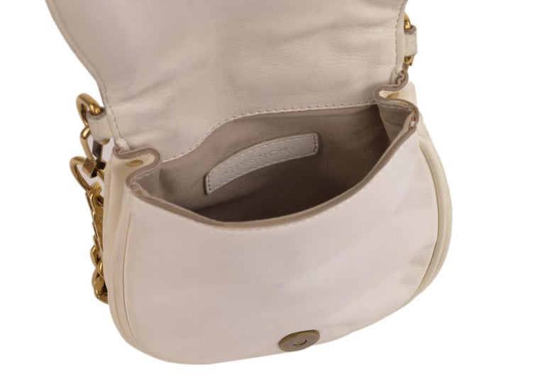 e6d34d0711a2 Women s Givenchy Cream Ivory Star Sudded Saddle Small Flap Shoulder Bag For  Sale