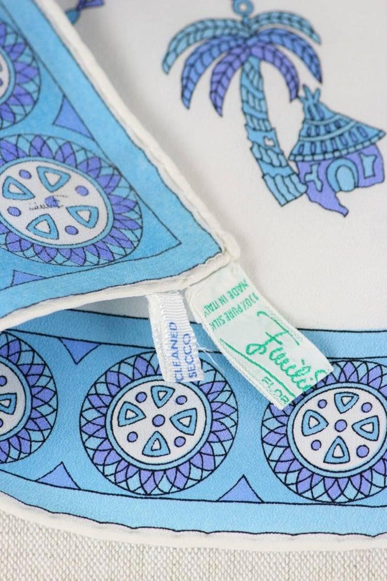 Emilio Pucci 1970s Rare African Design Print Silk Scarf For Sale 1