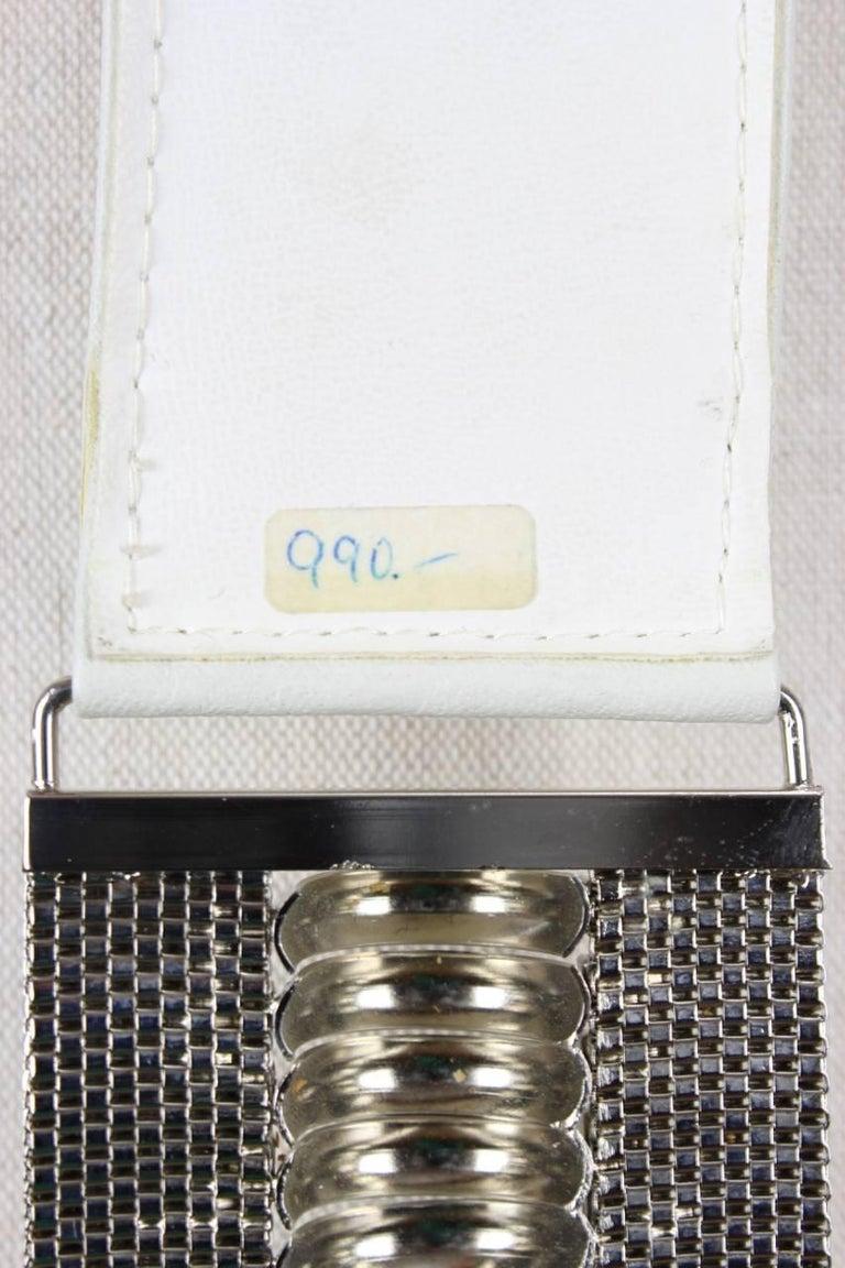 Gianni Versace Silver Metal Mesh Waist Belt With Rhinestones, 1980s  For Sale 3