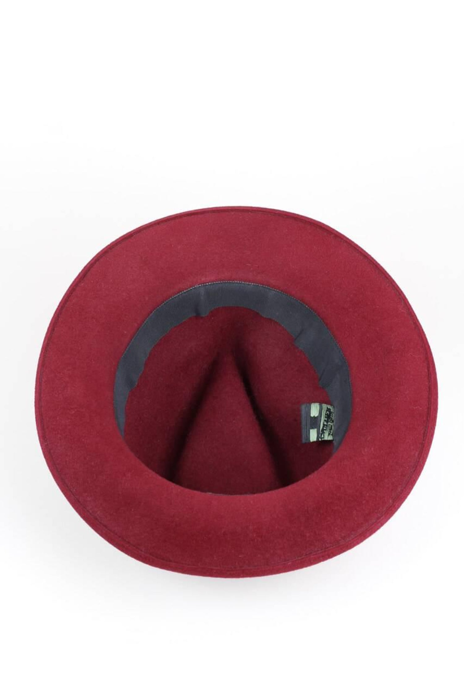 7a10dc1213b Jean Paul Gaultier 1990s Wine-Red Rabbit Felt Fedora Hat For Sale at 1stdibs