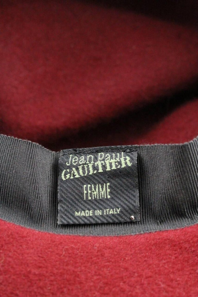 9bd84d92882 Jean Paul Gaultier 1990s Wine-Red Rabbit Felt Fedora Hat For Sale at ...