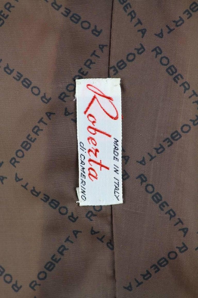 Roberta di Camerino Ruby Red Aztec Design Velvet Coat Size M/L, 1970s  For Sale 5