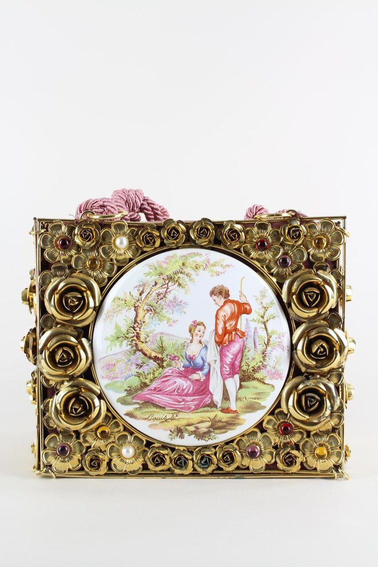 Early pieces by Dolce & Gabbana are very rare and hard to come by. This treasure, like several others that will be listed gradually comes direct from a German socialite and fashion collector so has not been on the market prior to this.  The bag is