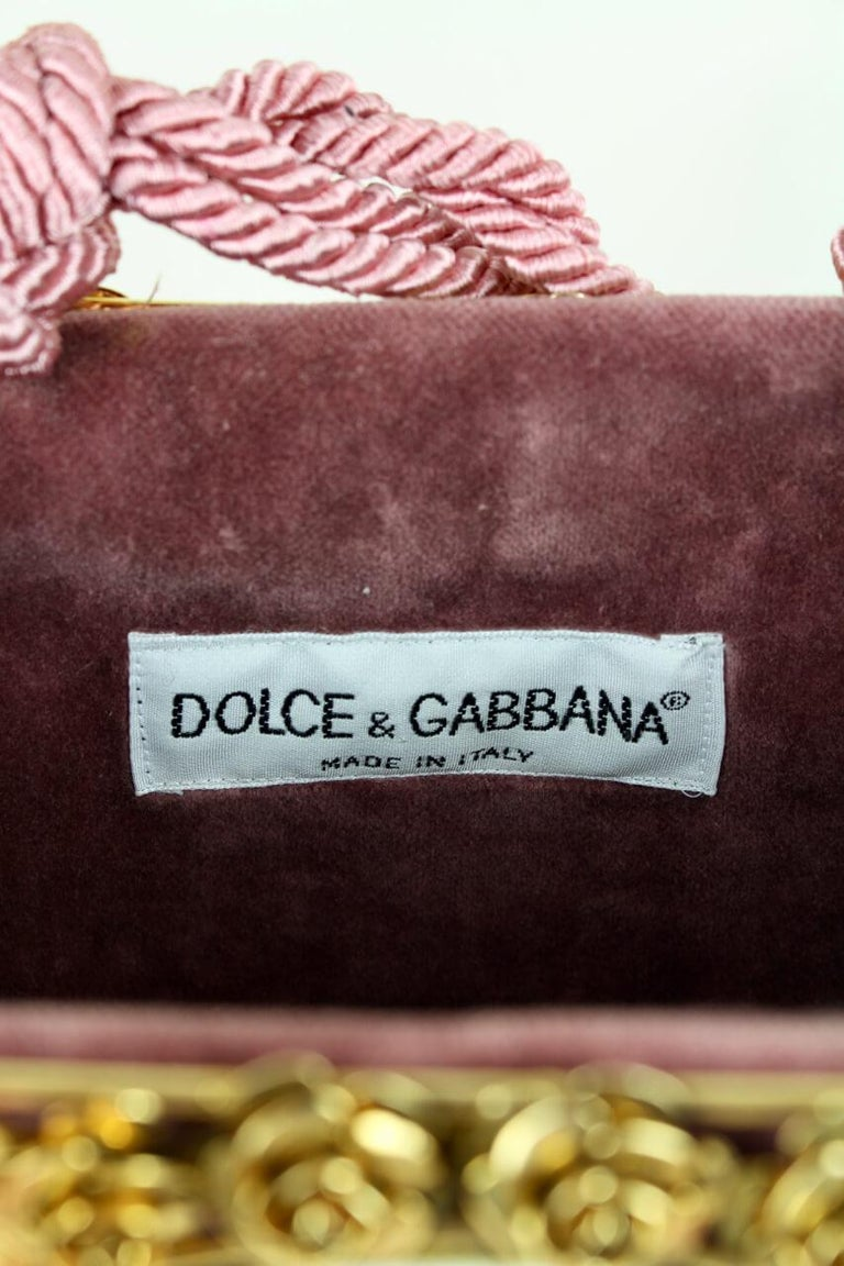 Dolce & Gabbana Couture Runway Floral Design Metal & Porcelain Bag, 1980s/1990s For Sale 5
