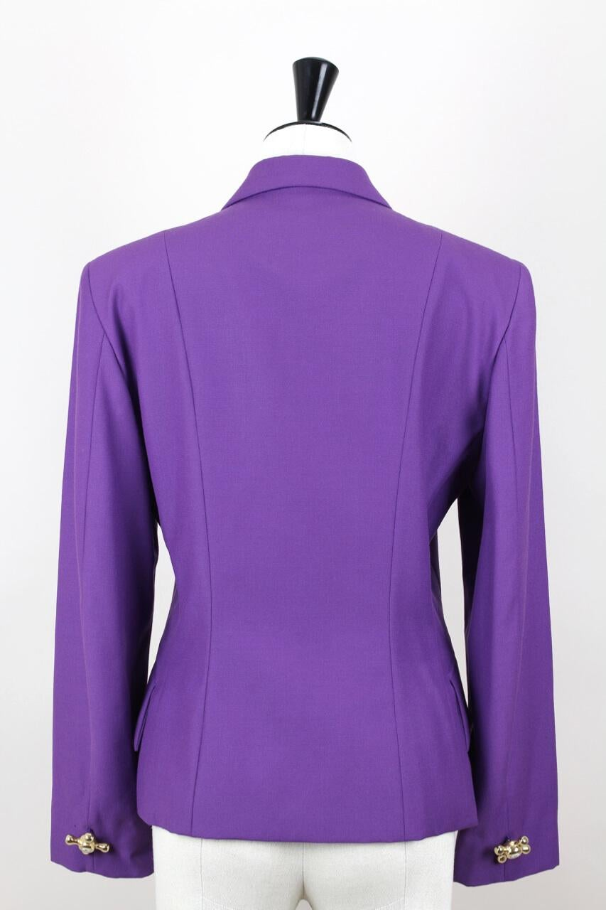 3b1145bb94 A moschino cheap chic purple wool faucet handle jacket in good condition  jpg 768x1152 Purple blazers