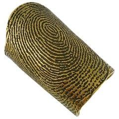 Yves Saint Laurent YSL S/S 2011 Documented Runway Fingerprint Cuff Bracelet