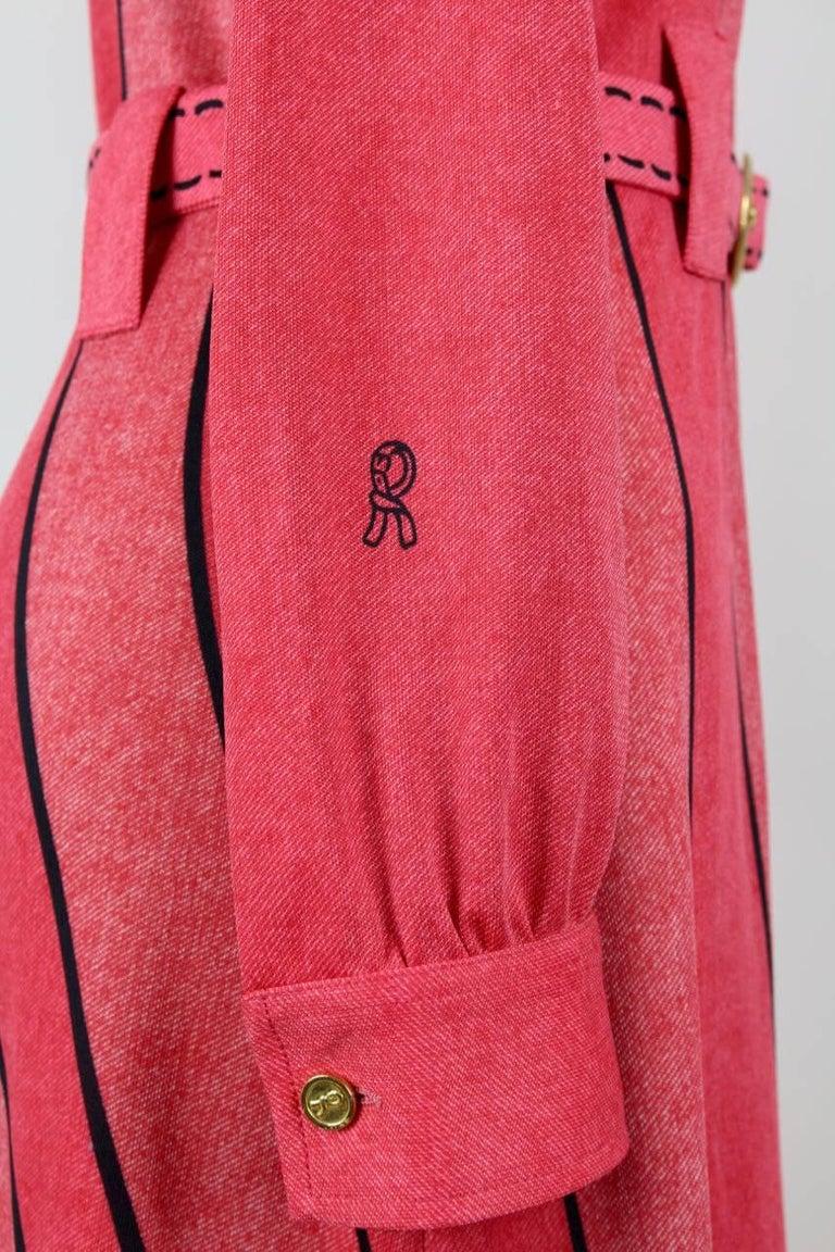 roberta di camerino 1970s lobster red trompe l 39 oeil vintage jersey dress for sale at 1stdibs. Black Bedroom Furniture Sets. Home Design Ideas