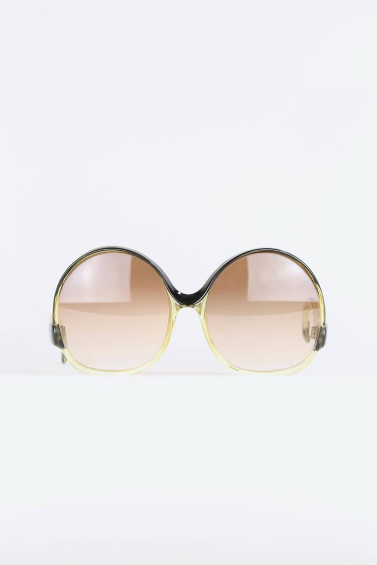 e9e6adeb369ee Beige Balenciaga Black   Clear Oversized Sunglasses Model 7697 Original  Sleeve