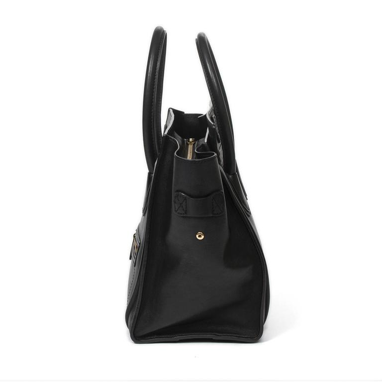 Women's Luggage Tote Mini Black Leather For Sale