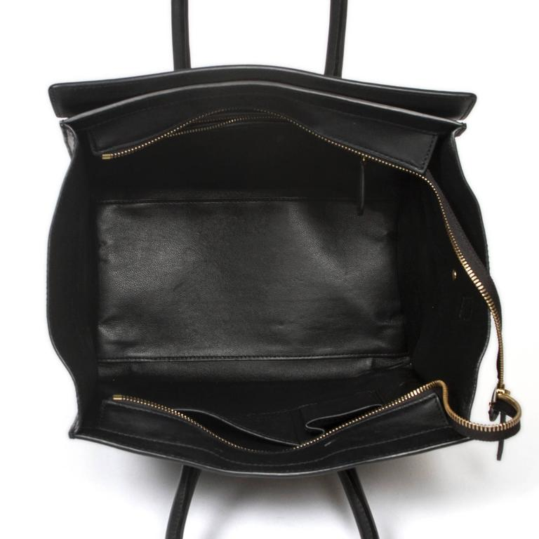 Luggage Tote Mini Black Leather For Sale 2