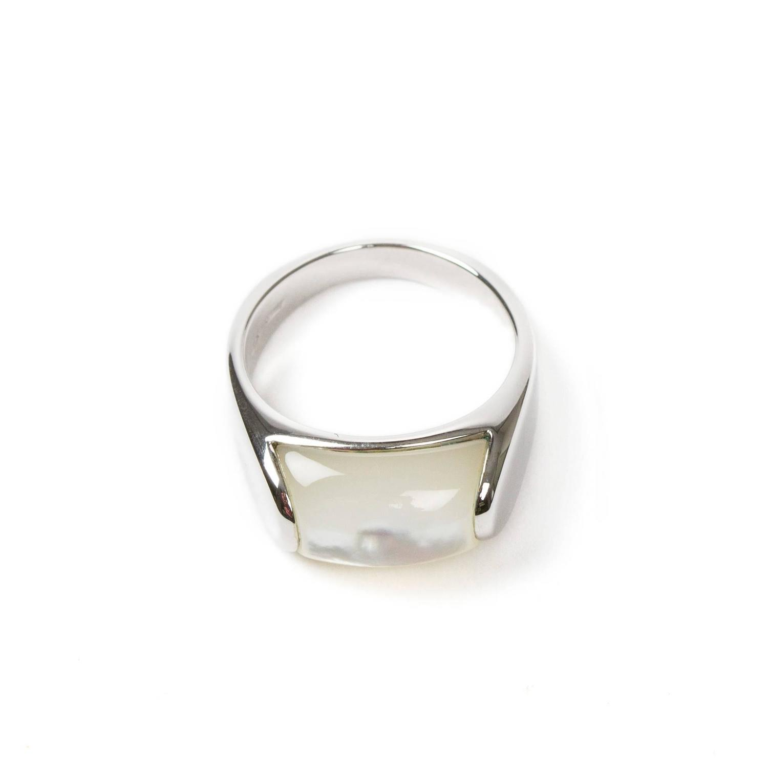 tronchetto ring white gold of pearl at 1stdibs