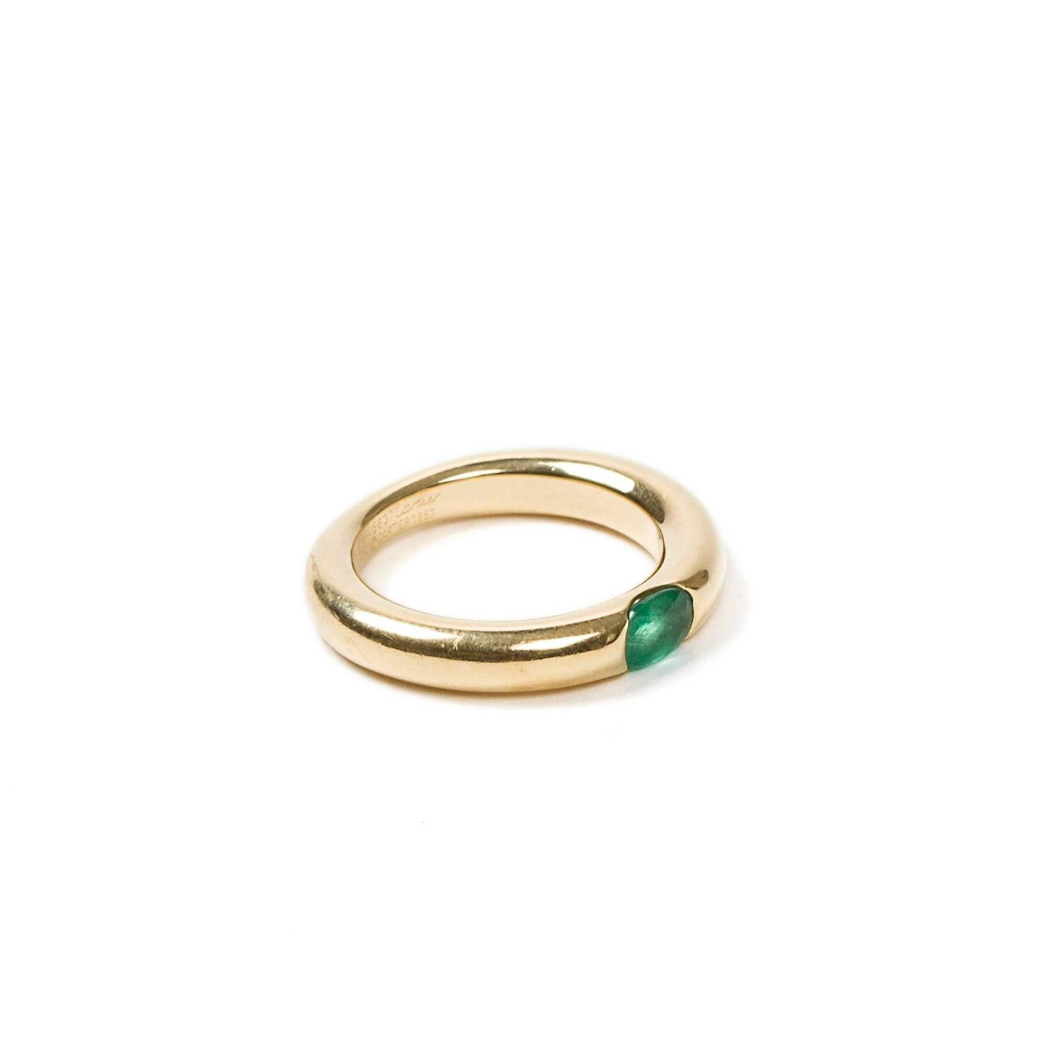 ring yellow gold emerald at 1stdibs