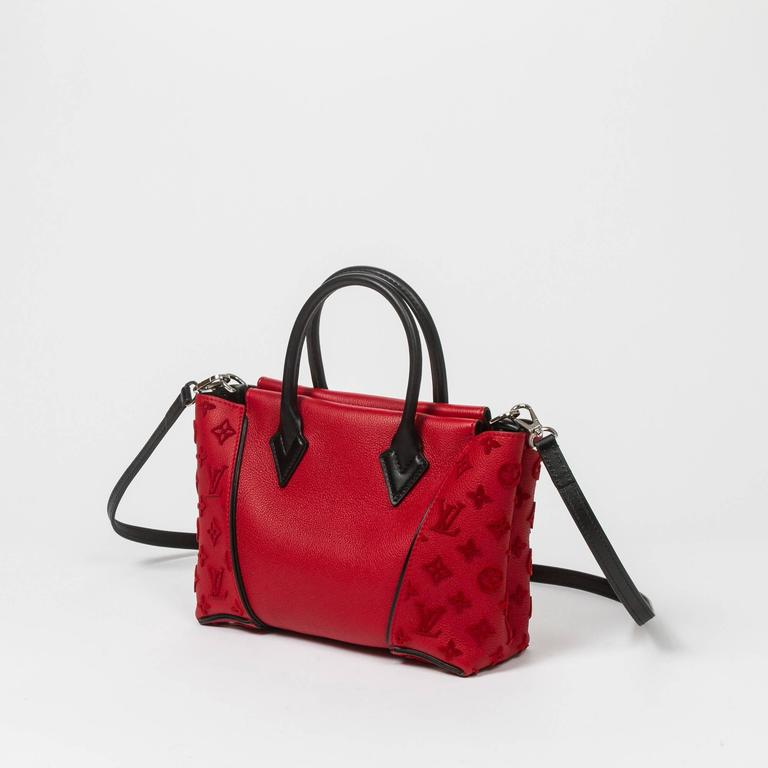 Louis Vuitton W Tote Bb Red Cashmire Leather At 1stdibs