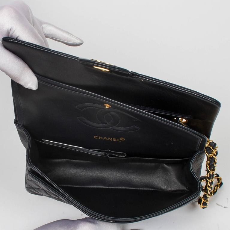 Chanel Classic Double Flap 26cm Navy Leather 6