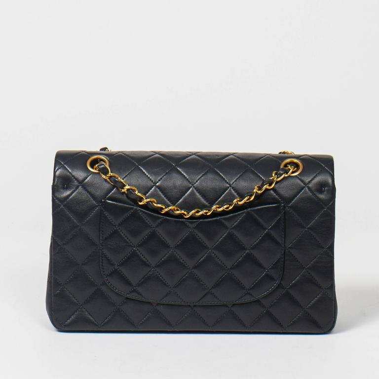 Chanel Classic Double Flap 26cm Navy Leather 5