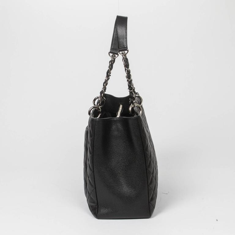 Women's or Men's Chanel Grand Shopping Tote GM Black Caviar For Sale