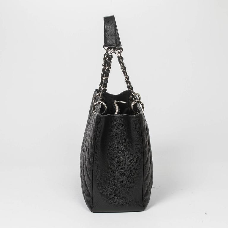 Chanel Grand Shopping Tote GM Black Caviar In Excellent Condition For Sale In Dublin, IE