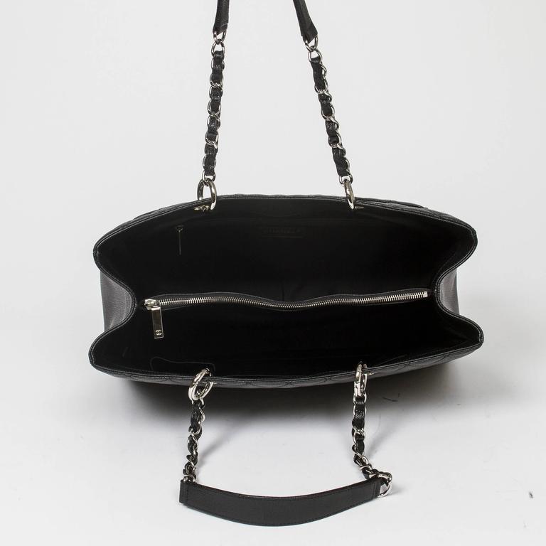 Chanel Grand Shopping Tote GM Black Caviar For Sale 2