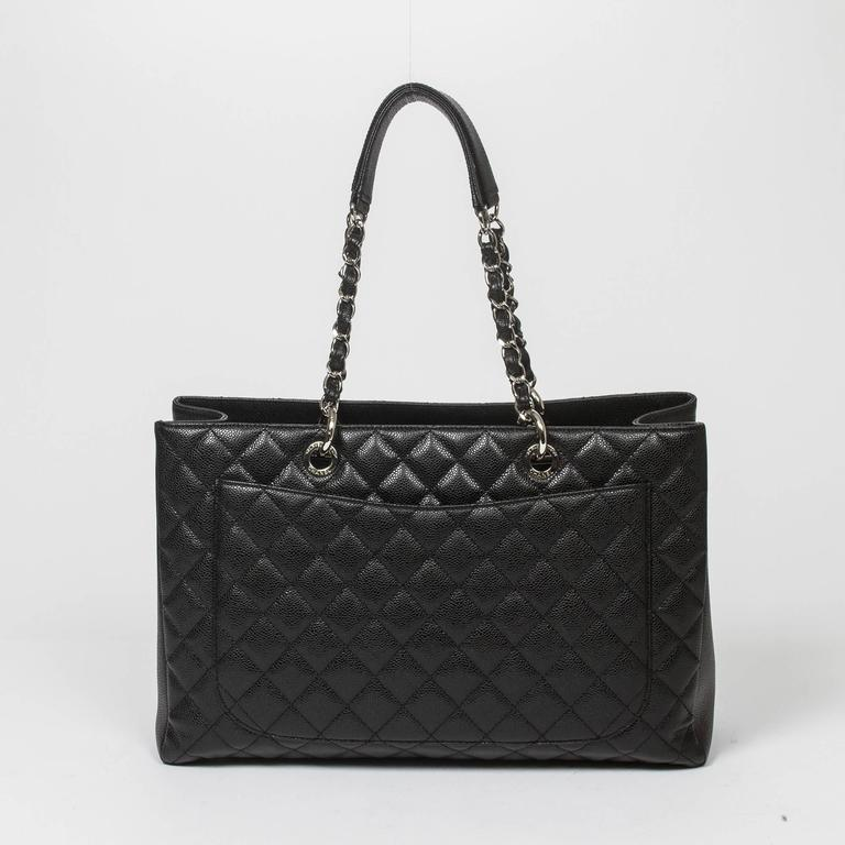 Chanel Grand Shopping Tote GM Black Caviar For Sale 1