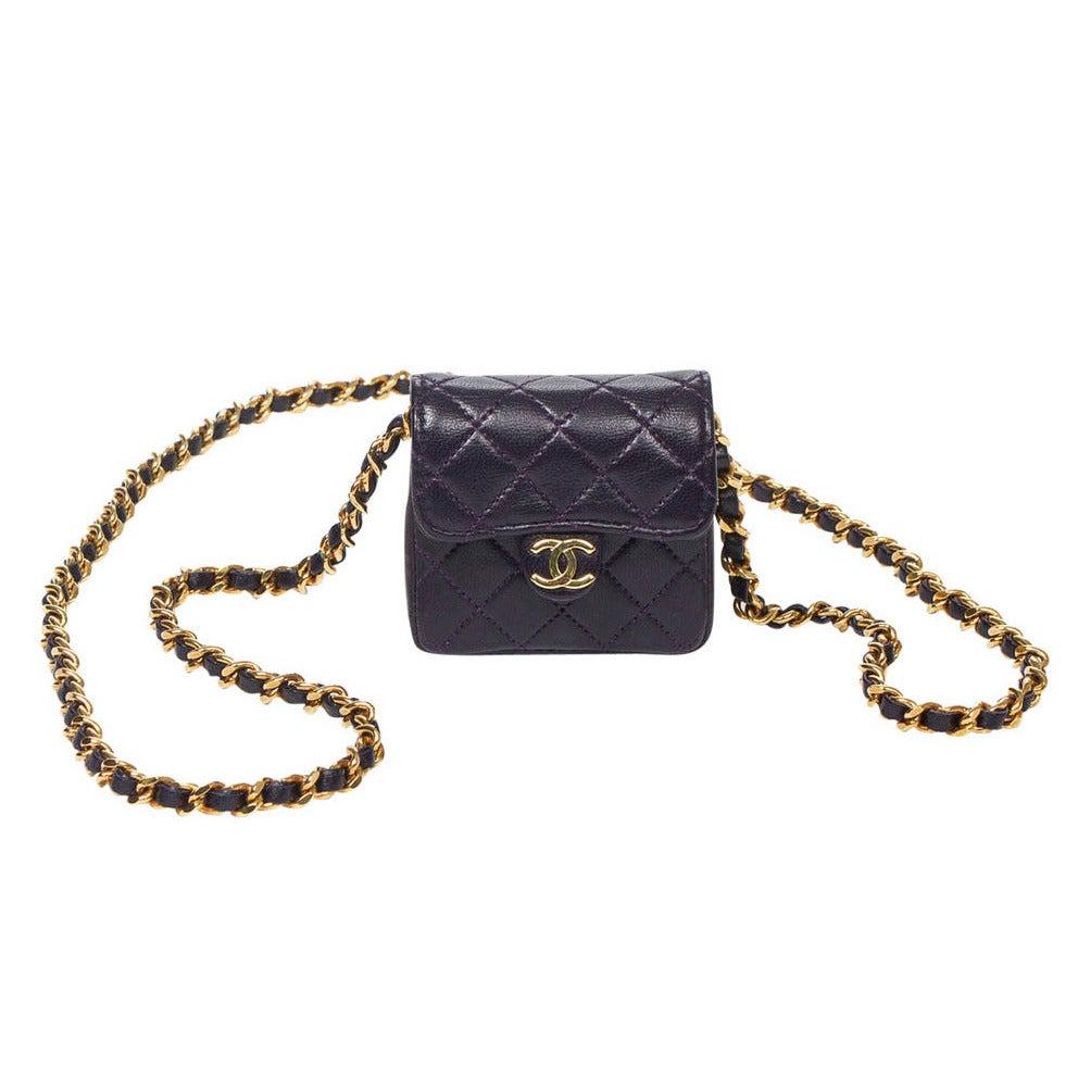 Chanel Vintage Necklace/Shoulder bag Mini Timeless at 1stdibs