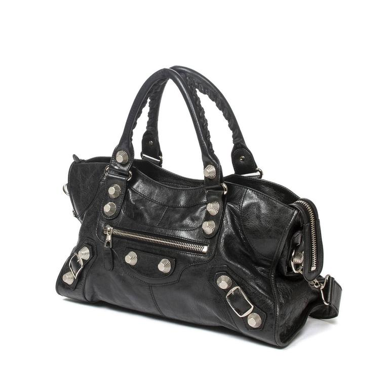 Giant Part Time Black Distressed Leather 2