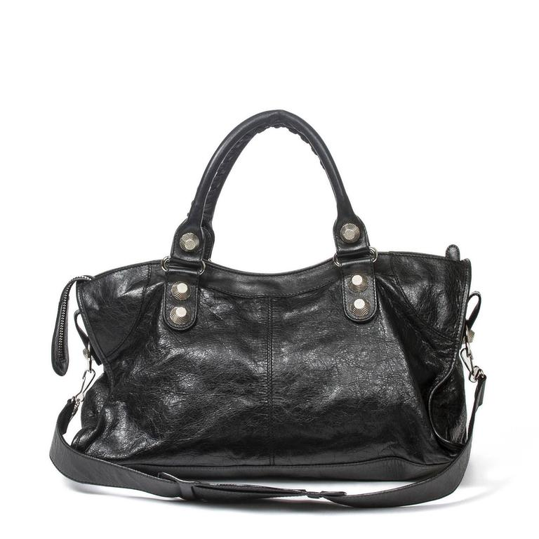 Giant Part Time Black Distressed Leather 5