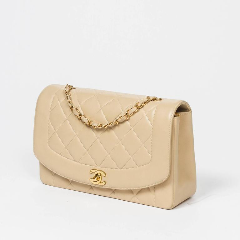 Chanel Vintage Mademoiselle Flap Beige Quilted Leather 2