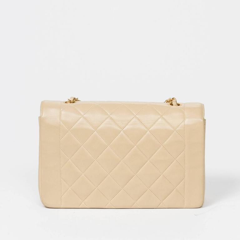 Chanel Vintage Mademoiselle Flap Beige Quilted Leather 5